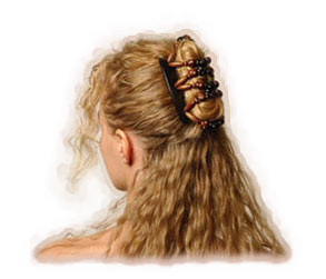 half up style, Comfortable stylish hair clips which can be used to create many different styles