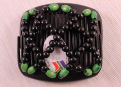 Ndebele African Butterfly hair clip on black comb