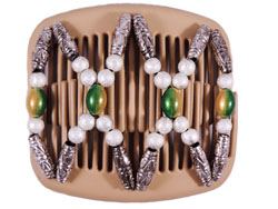 Dalena African Butterfly hair clip on blonde comb