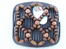 Ndebele African Butterfly hair clip on brown comb