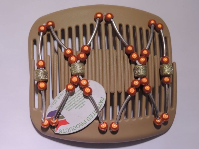 11cm African Butterfly hair clip on blonde comb