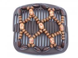 11cm African Butterfly hair clip on brown comb