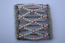 Pretty Pink Butterfly Hair Clip  - 9 stainless steel interlocking prongs to hold hair all day