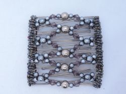 Grey Beaded Original One Clip  - 9 prongs, approx 10cm