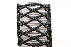 Black Beaded One Clip 11.5 cm - the only hair clip you'll ever need!