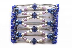 Pretty Blue and Purple One Clip medium - 7 Prongs